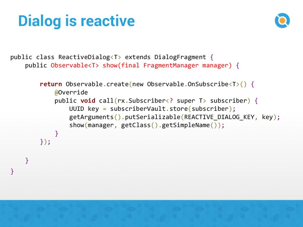 Dialog is reactive public class ReactiveDialog<...