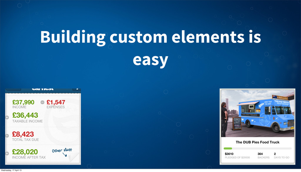 Building custom elements is easy Wednesday, 17 ...