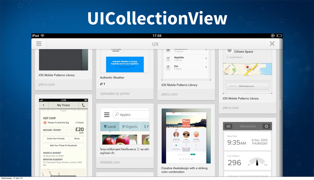 UICollectionView Wednesday, 17 April 13