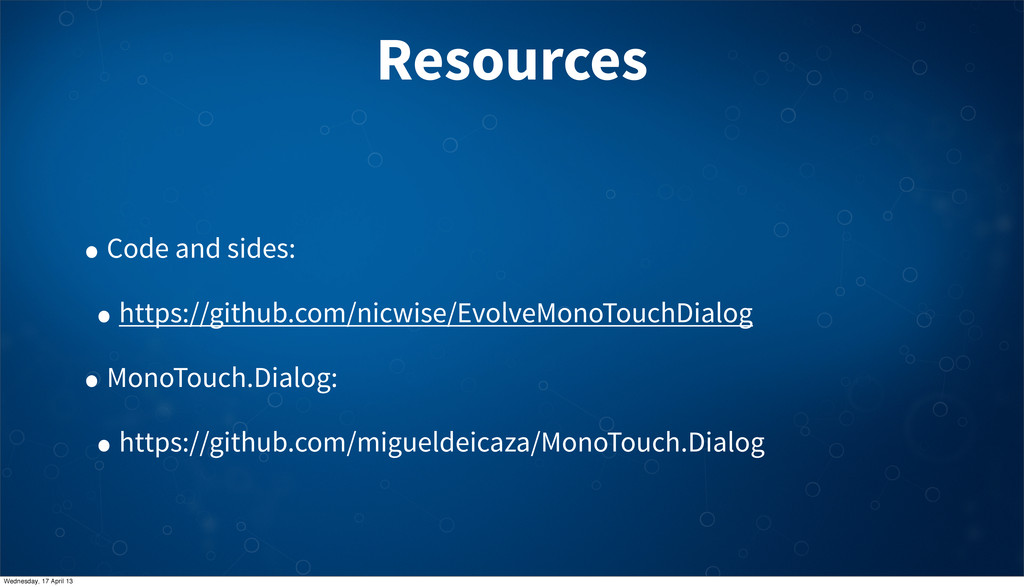 Resources • Code and sides: • https://github.co...