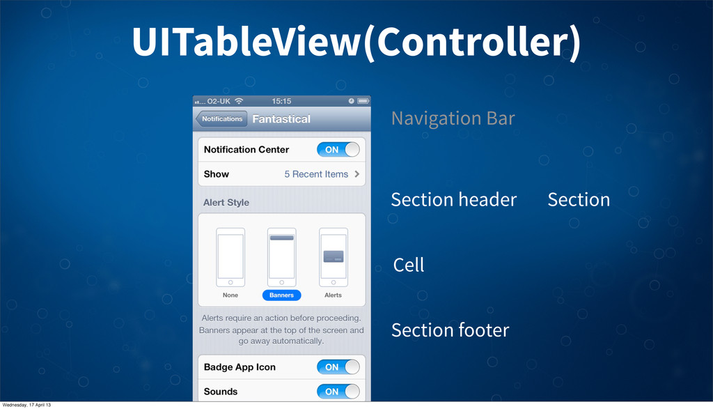 UITableView(Controller) Section Section header ...