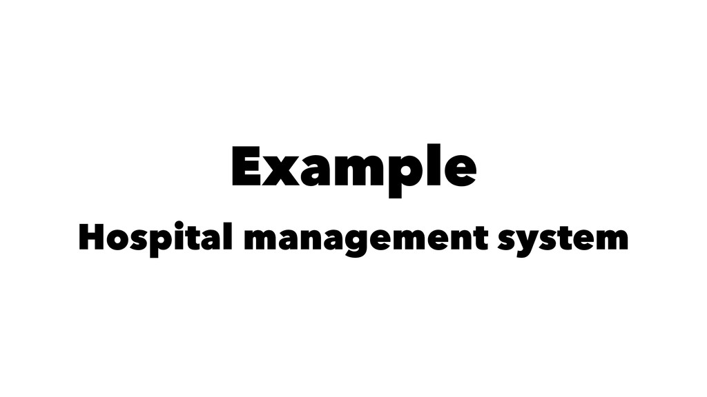 Example Hospital management system