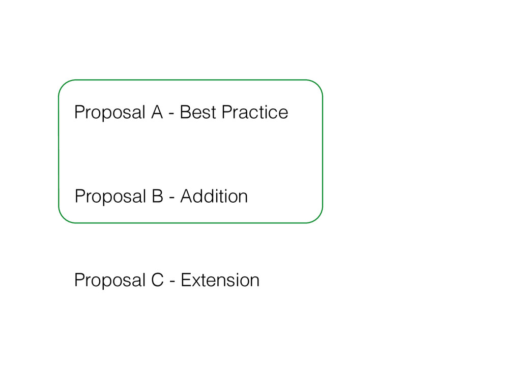 Proposal A - Best Practice Proposal B - Additio...