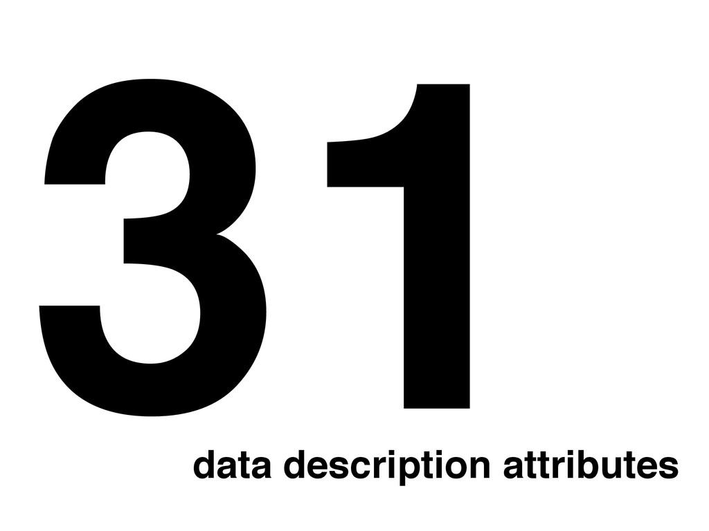 31 data description attributes