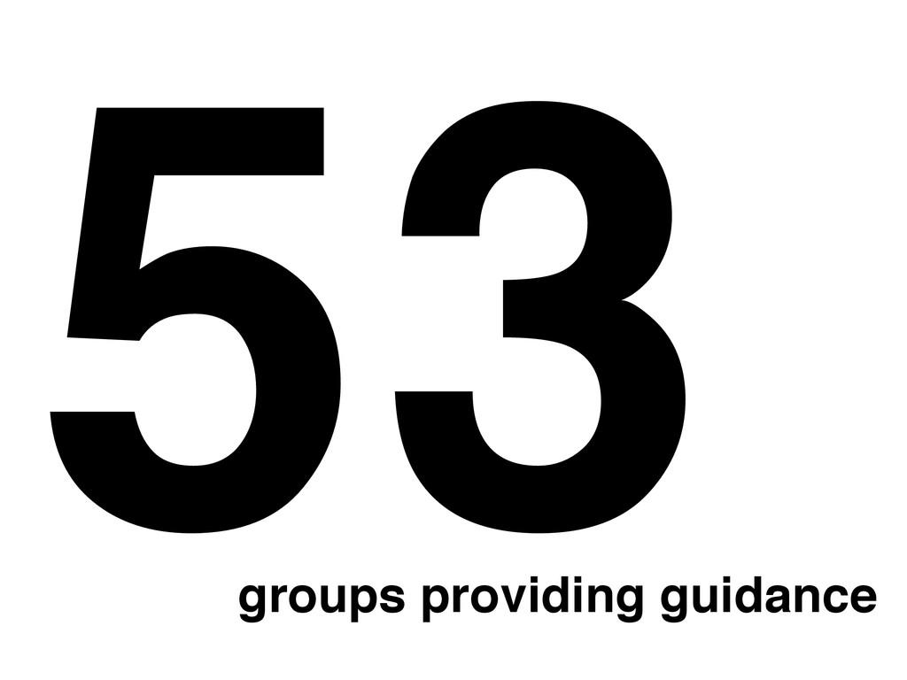 53 groups providing guidance