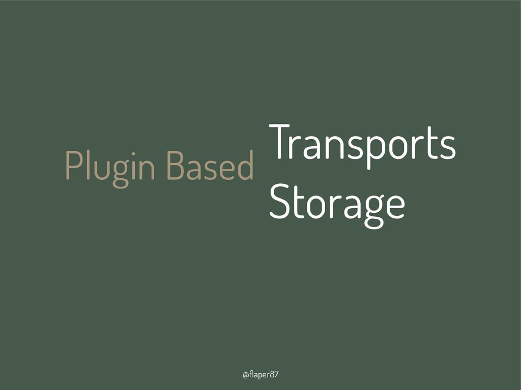 @flaper87 Plugin Based Transports Storage