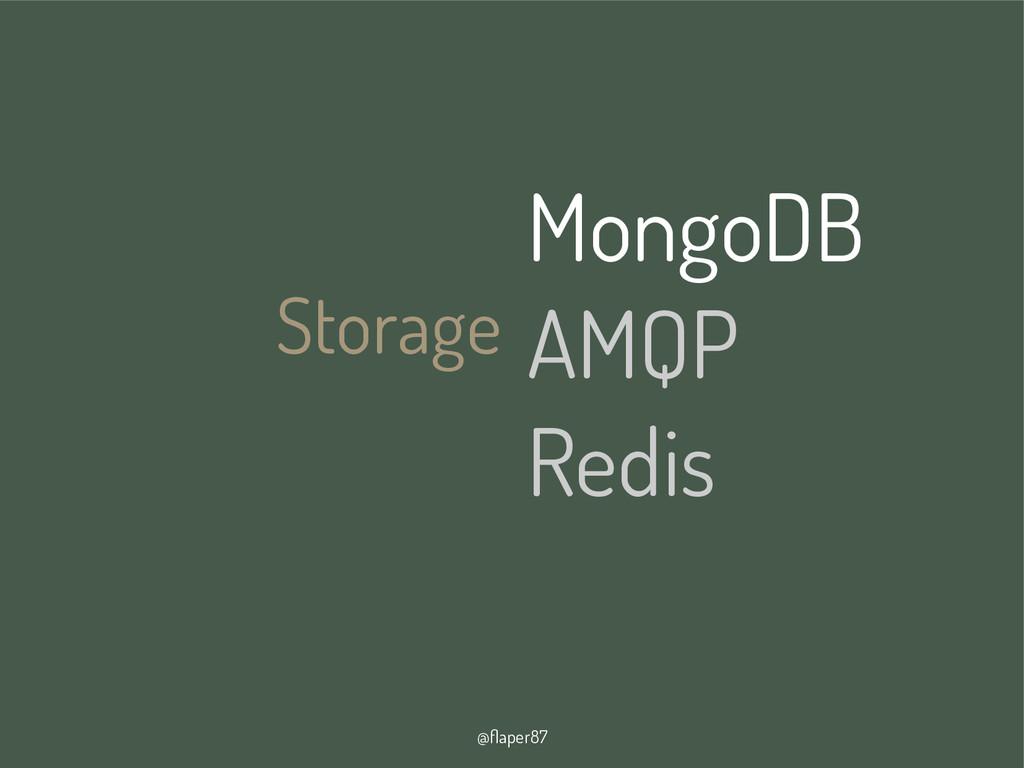 @flaper87 Storage MongoDB AMQP Redis