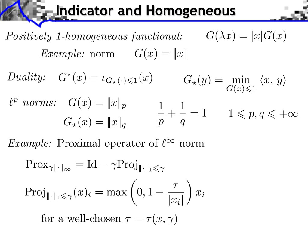 Positively 1-homogeneous functional: Example: n...