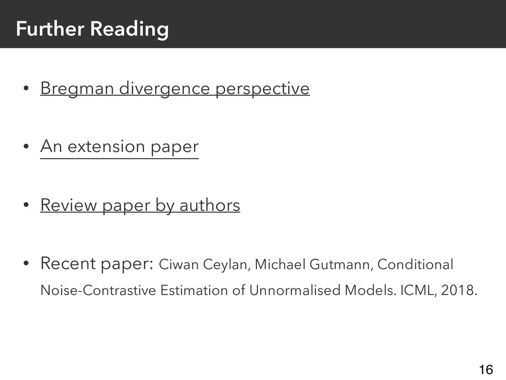 Further Reading • Bregman divergence perspectiv...