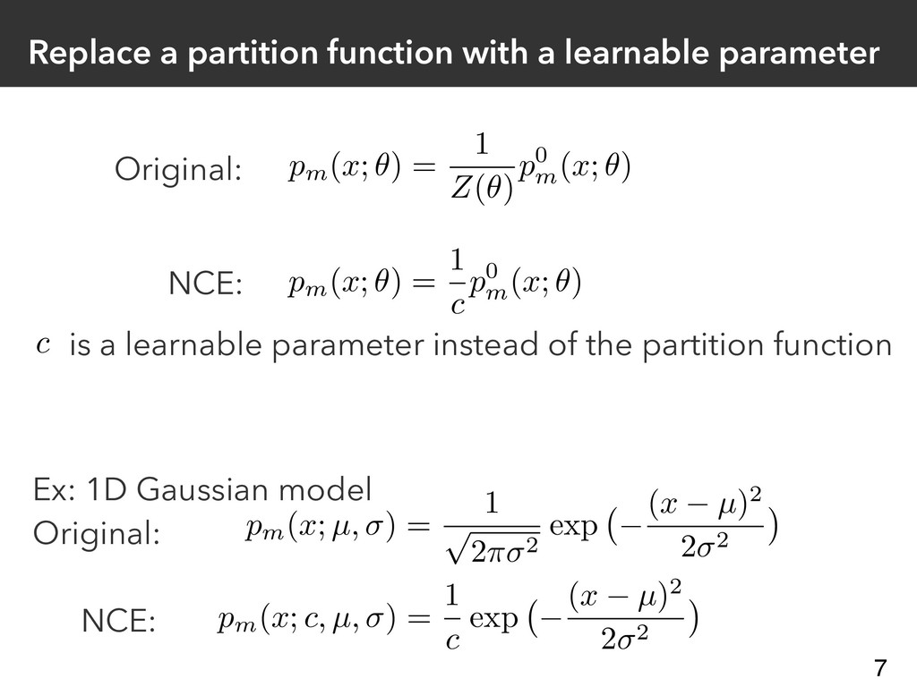 Replace a partition function with a learnable p...