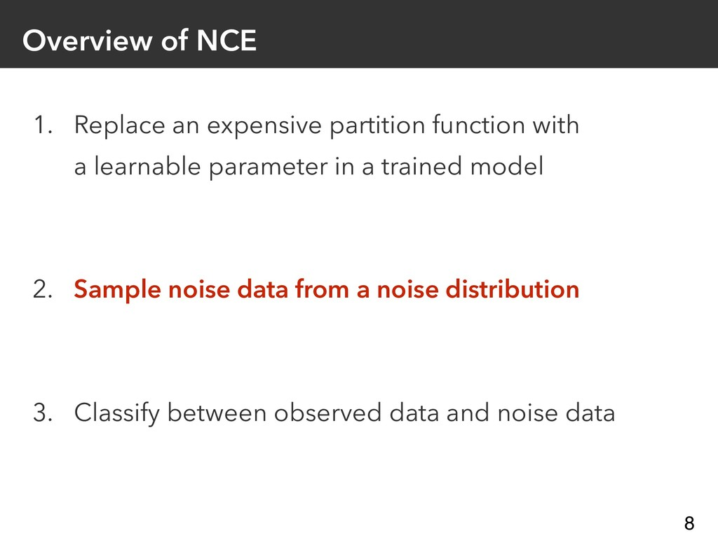 Overview of NCE 1. Replace an expensive partiti...