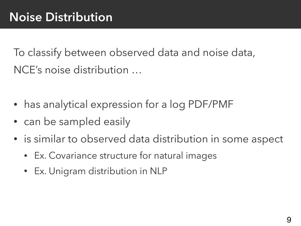 Noise Distribution To classify between observed...