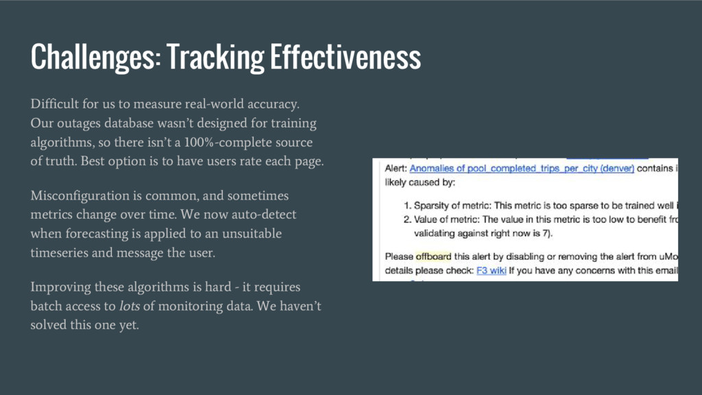 Challenges: Tracking Effectiveness Difficult fo...