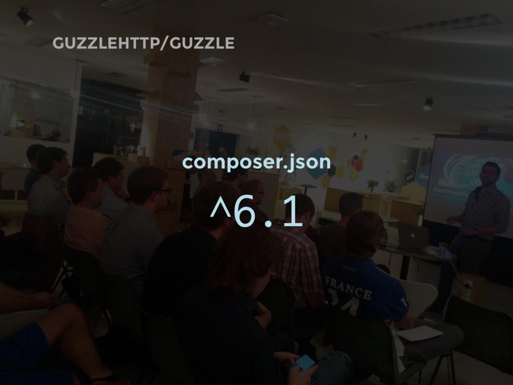 GUZZLEHTTP/GUZZLE composer.json ^6.1