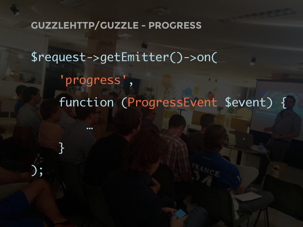 GUZZLEHTTP/GUZZLE - PROGRESS $request->getEmitt...