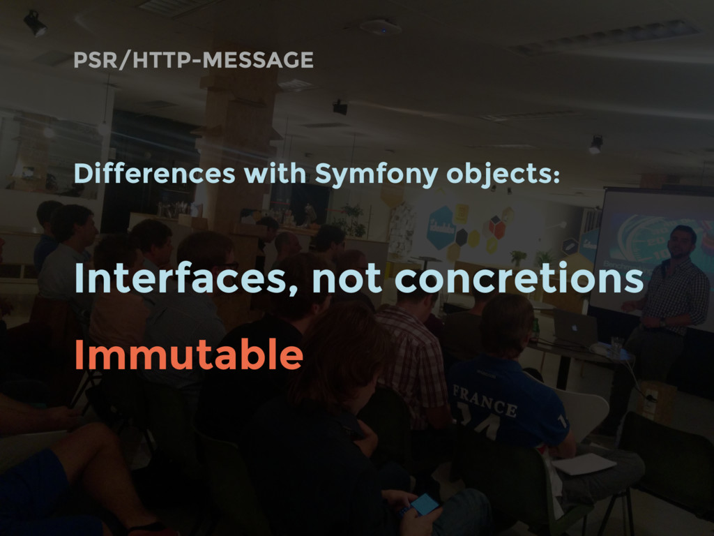 Differences with Symfony objects: Interfaces, n...