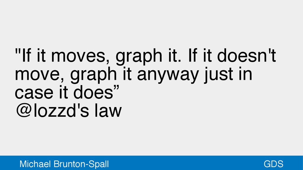 "GDS Michael Brunton-Spall ""If it moves, graph i..."