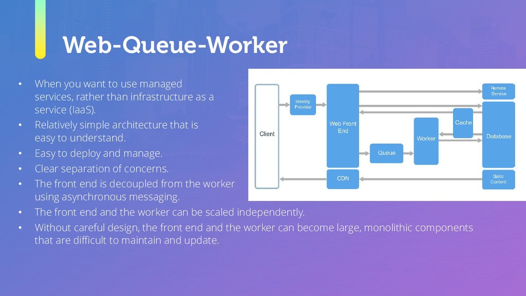 Web-Queue-Worker • When you want to use managed...