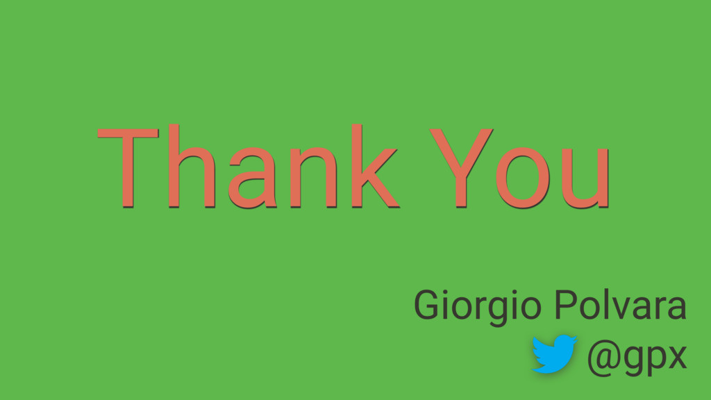Thank You Giorgio Polvara @gpx