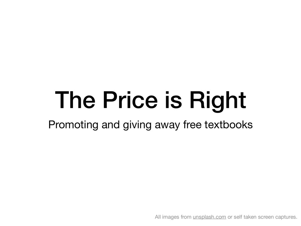 The Price is Right Promoting and giving away fr...