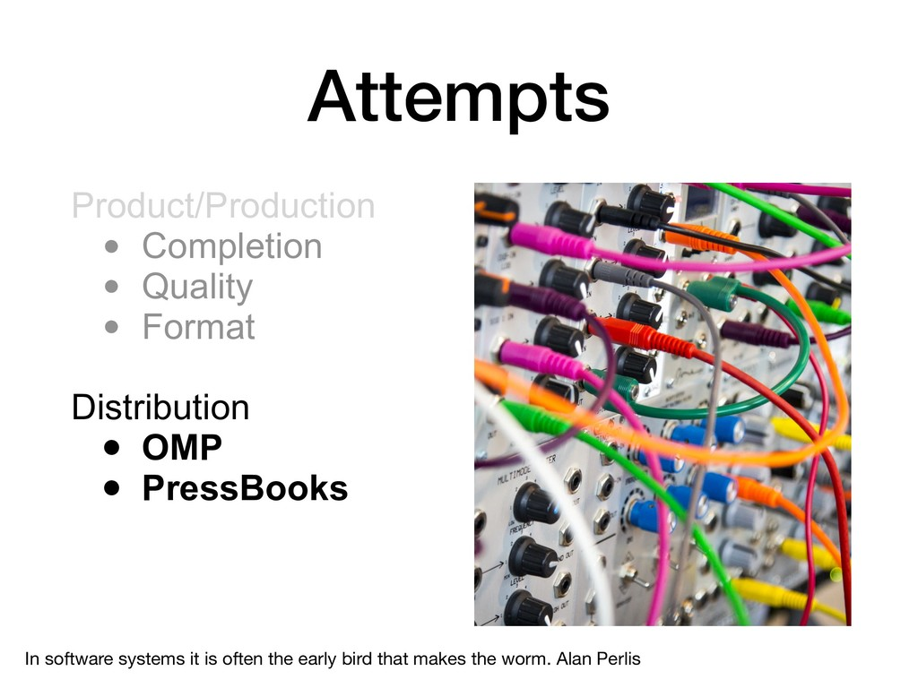Attempts Product/Production • Completion • Qual...