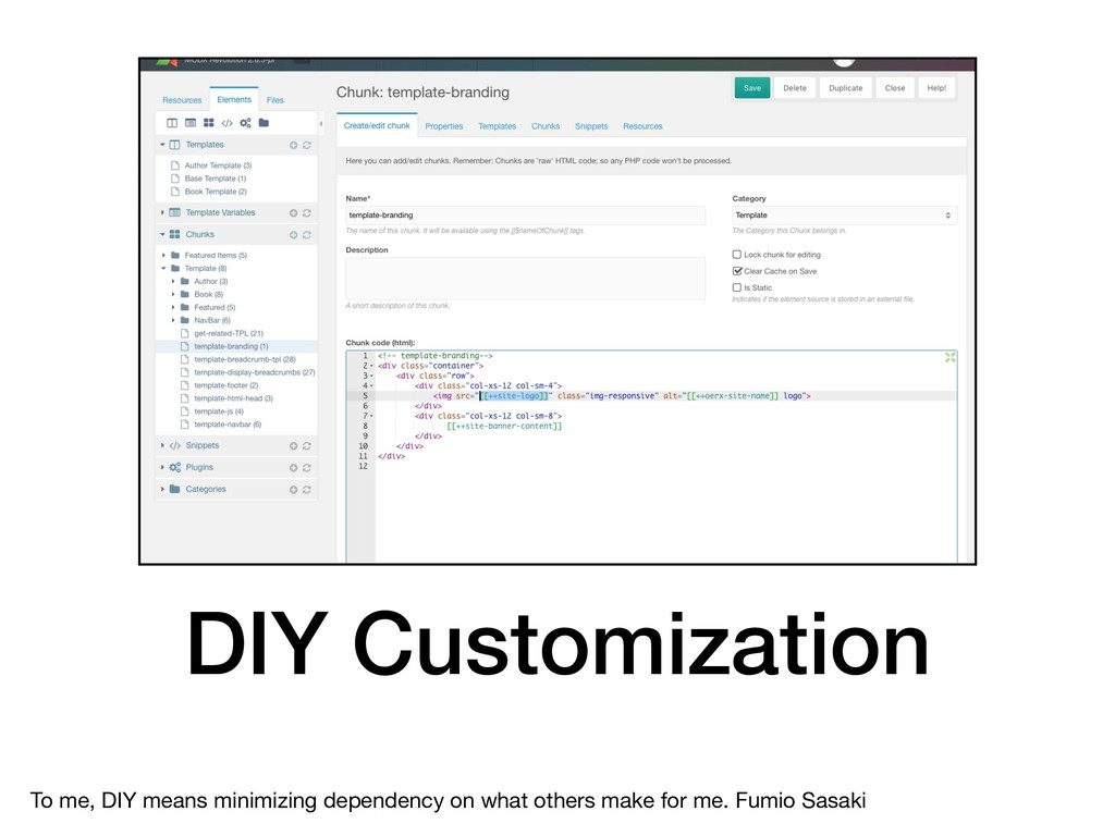 DIY Customization To me, DIY means minimizing d...