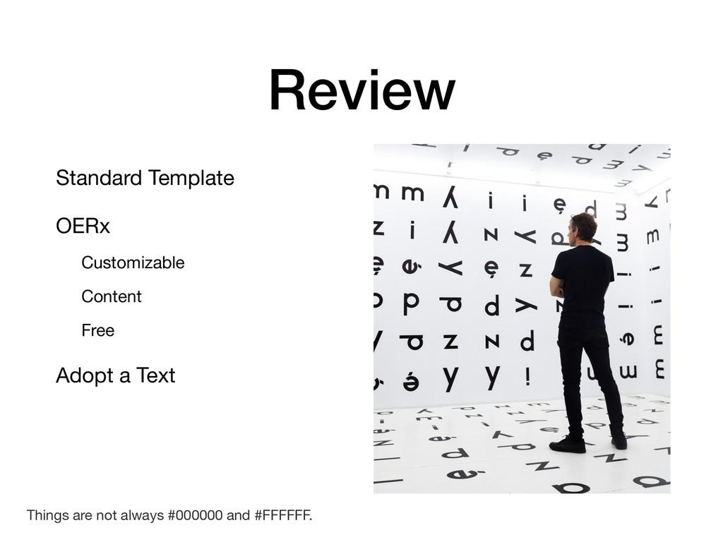 Standard Template  OERx  Customizable  Content ...