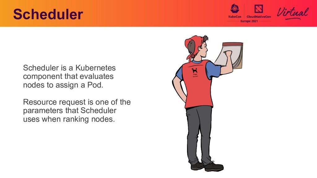 Scheduler Scheduler is a Kubernetes component t...