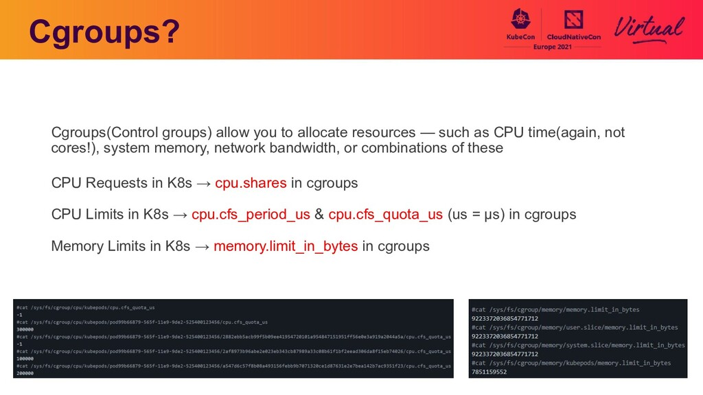 Cgroups? Cgroups(Control groups) allow you to a...