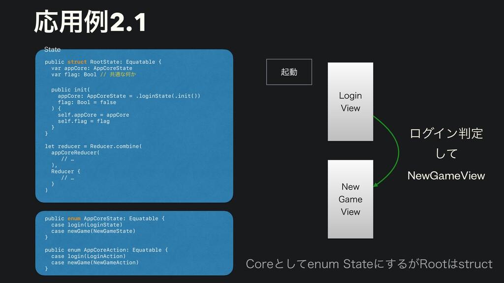 ىಈ public struct RootState: Equatable {   var a...