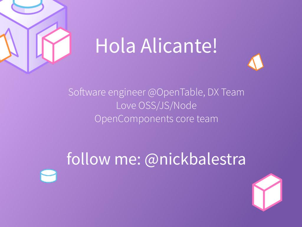 Hola Alicante! follow me: @nickbalestra Softwar...