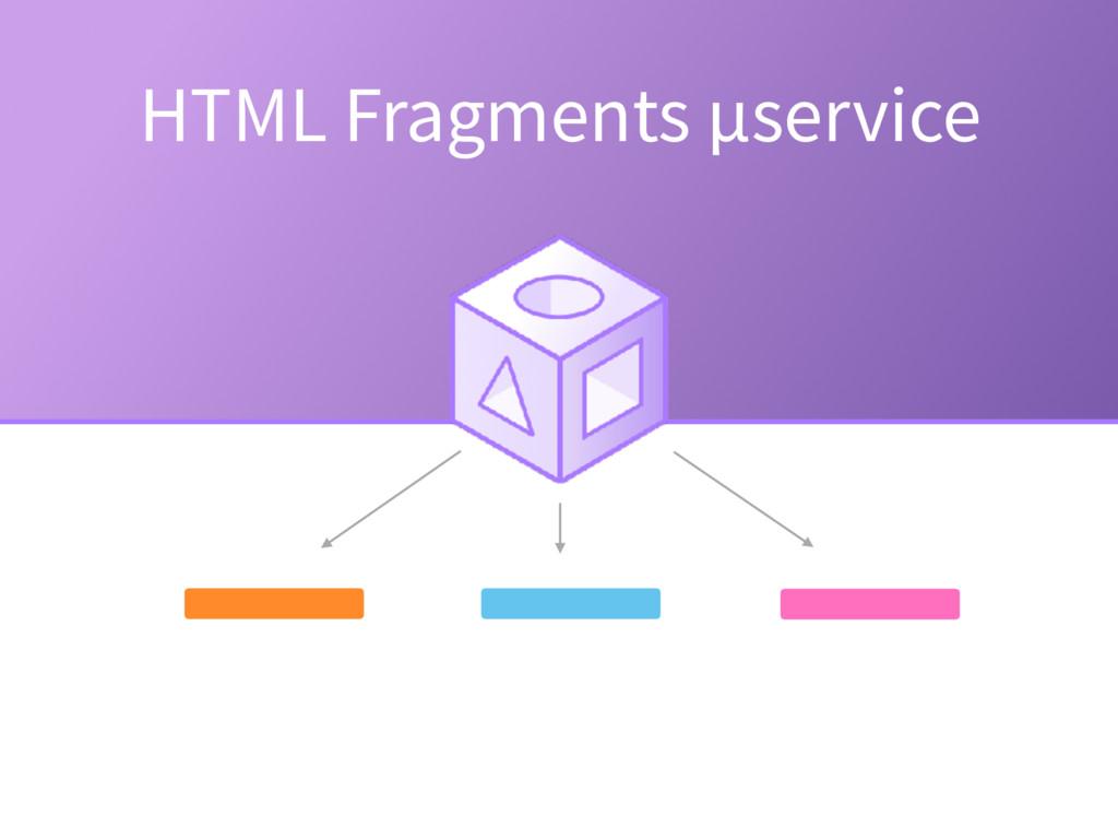 HTML Fragments µservice