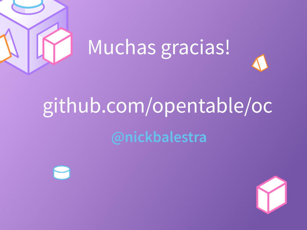 Muchas gracias! @nickbalestra github.com/openta...