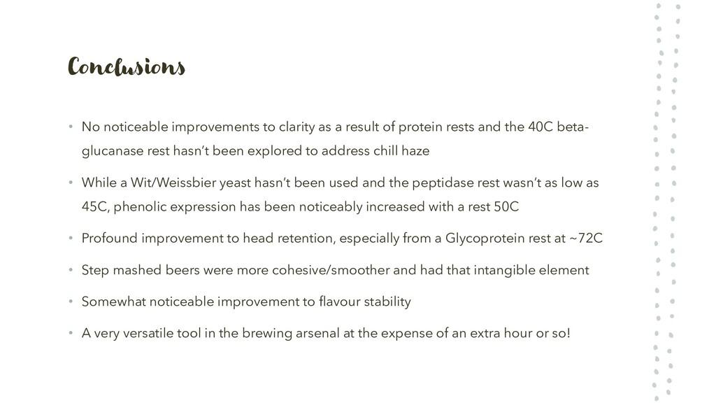 Conclusions • No noticeable improvements to cla...