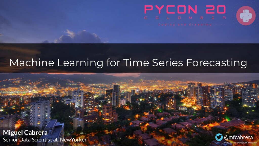 Machine Learning for Time Series Forecasting Mi...