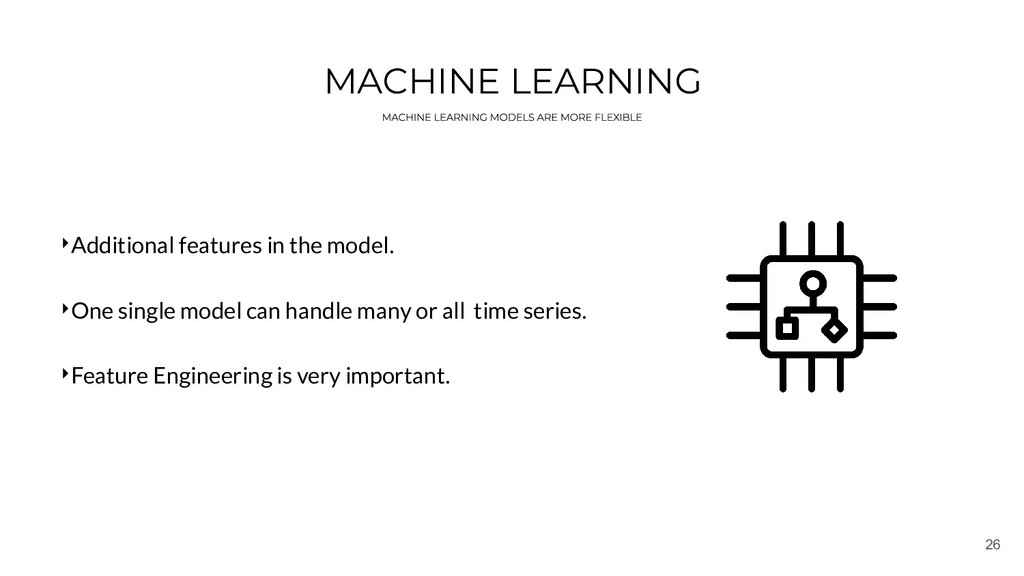 26 MACHINE LEARNING ‣Additional features in the...