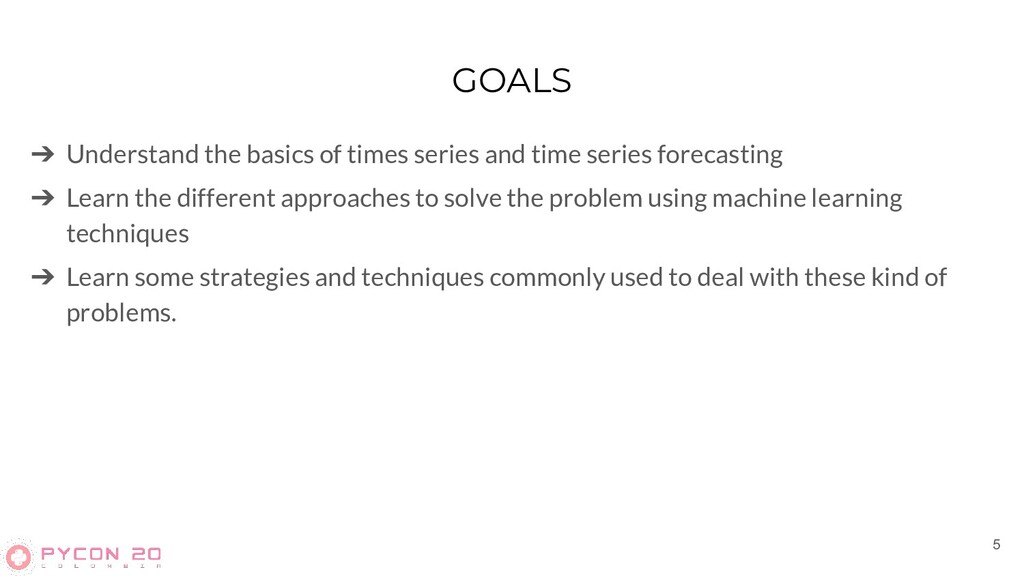 GOALS ➔ Understand the basics of times series a...