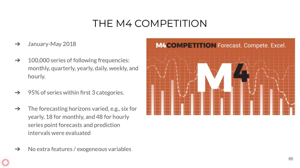 THE M4 COMPETITION ➔ January-May 2018 ➔ 100,000...