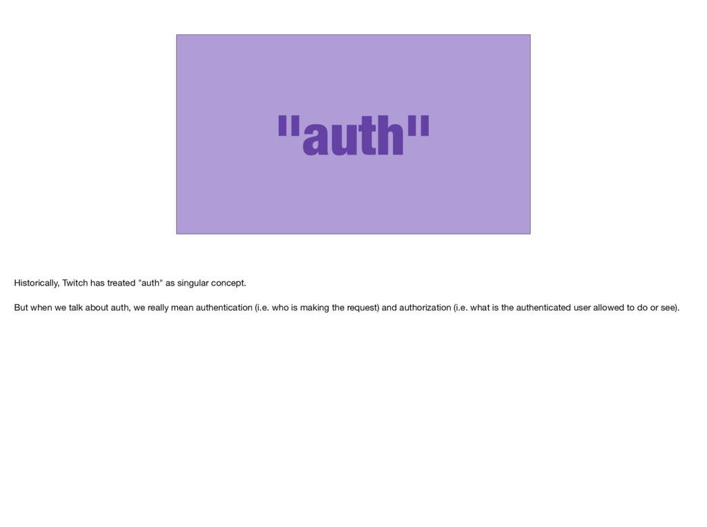 """""""auth"""" Historically, Twitch has treated """"auth"""" ..."""