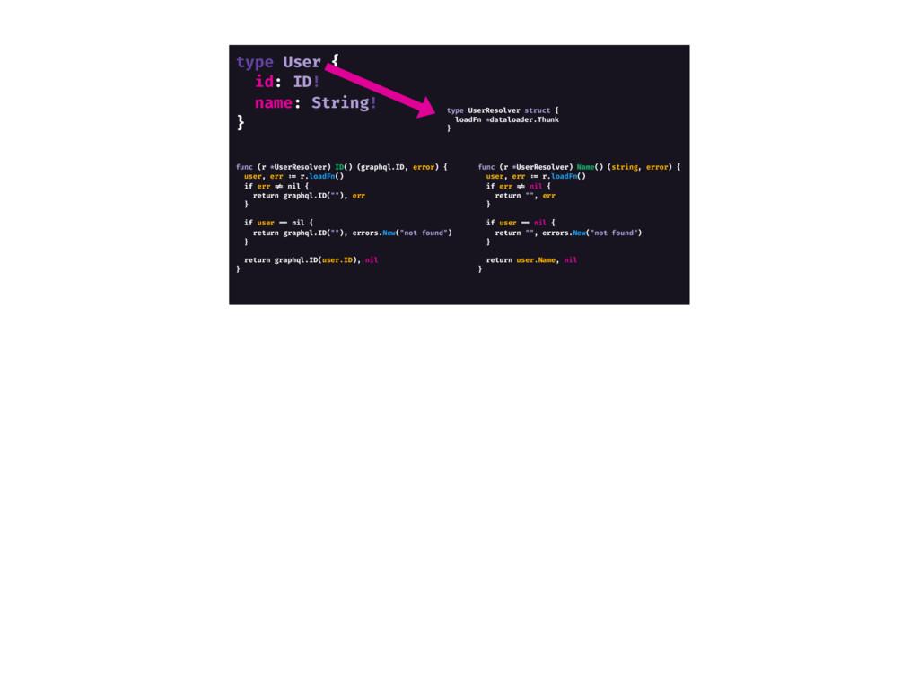 type User { id: ID! name: String! } func (r *Us...