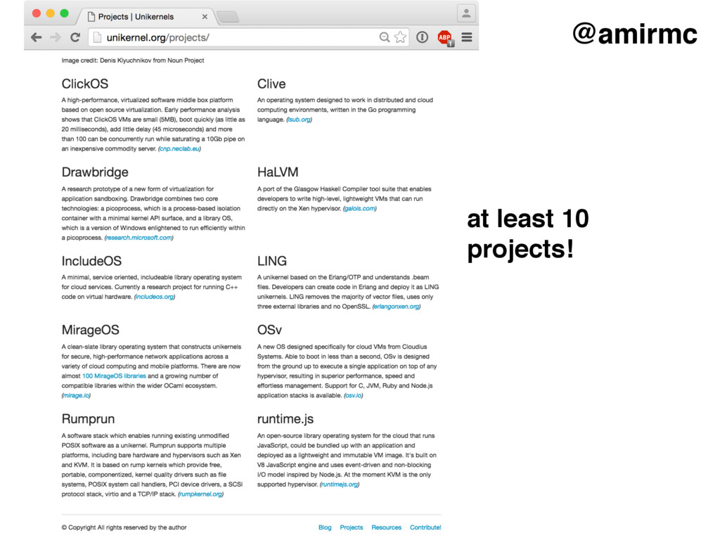 @amirmc at least 10 projects!
