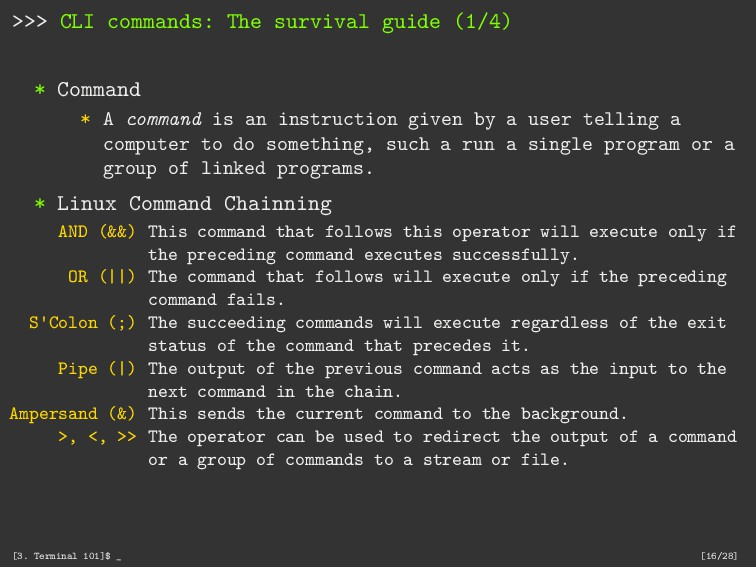 >>> CLI commands: The survival guide (1/4) * Co...