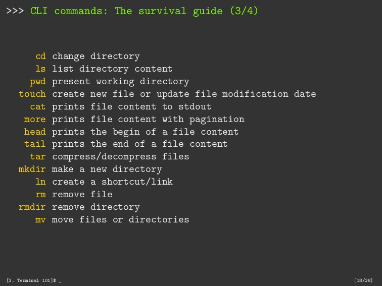 >>> CLI commands: The survival guide (3/4) cd c...