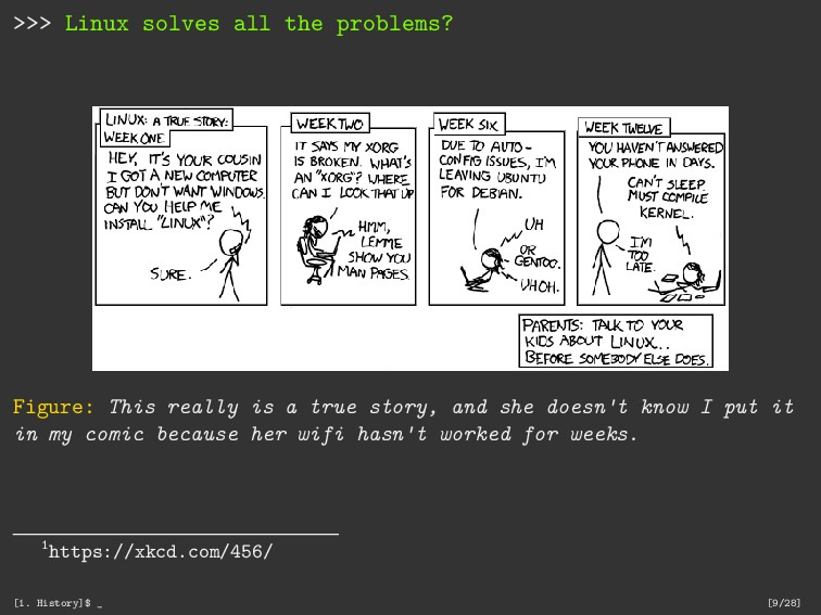 >>> Linux solves all the problems? Figure: This...