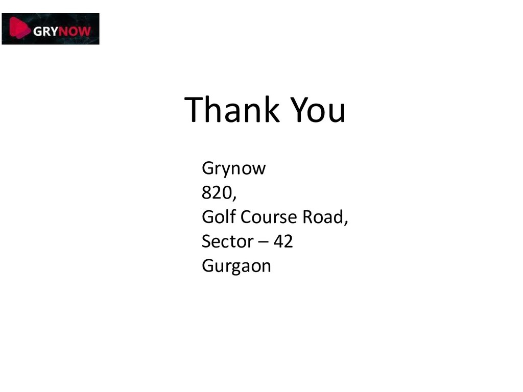 Thank You Grynow 820, Golf Course Road, Sector ...