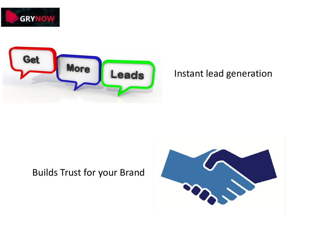 Instant lead generation Builds Trust for your B...