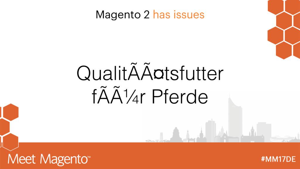Magento 2 has issues QualitÃätsfutter fÃür Pf...