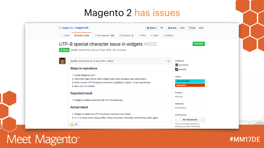 Magento 2 has issues