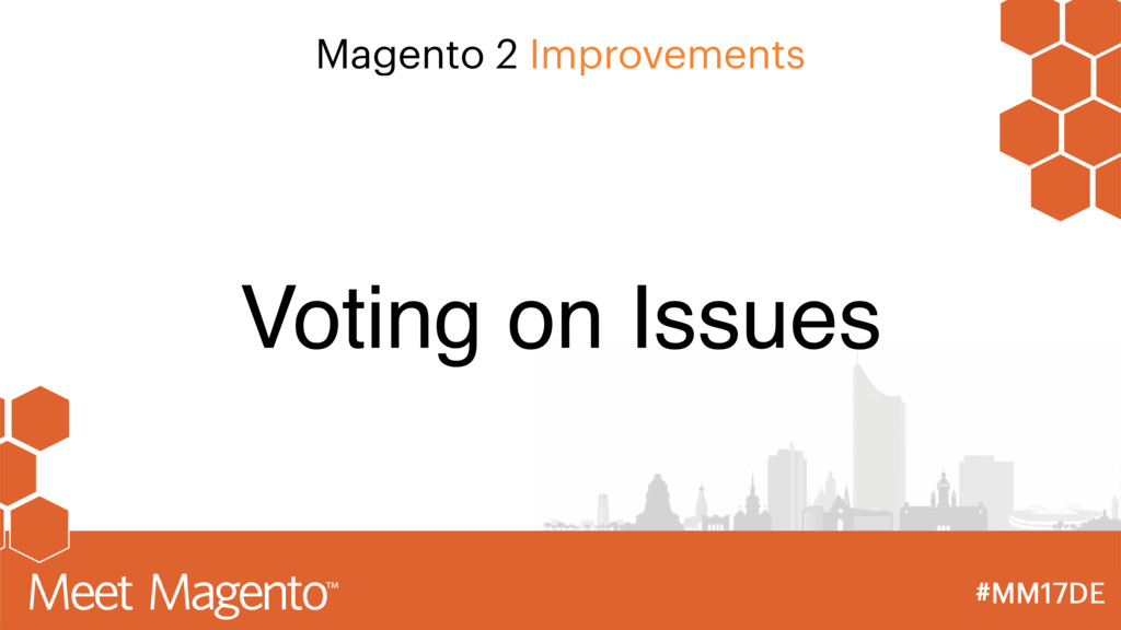 Magento 2 Improvements Voting on Issues