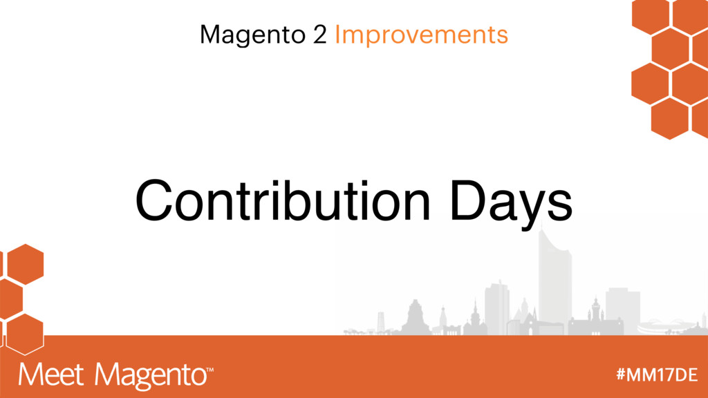 Magento 2 Improvements Contribution Days